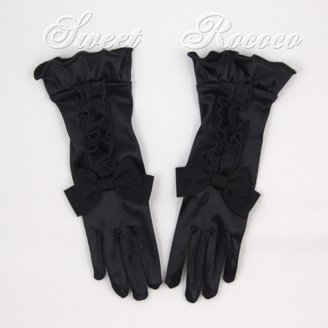 Black Satin Society Gloves