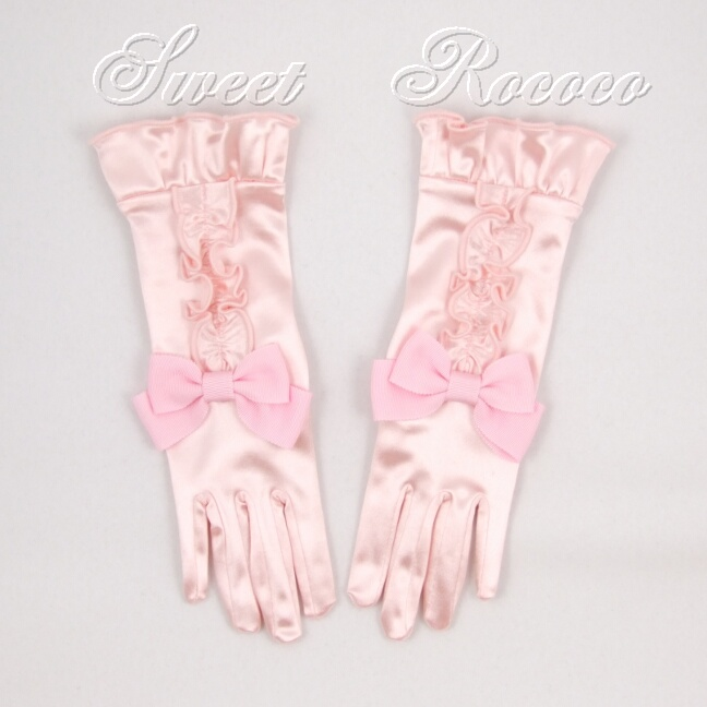 Pink Satin Society Gloves